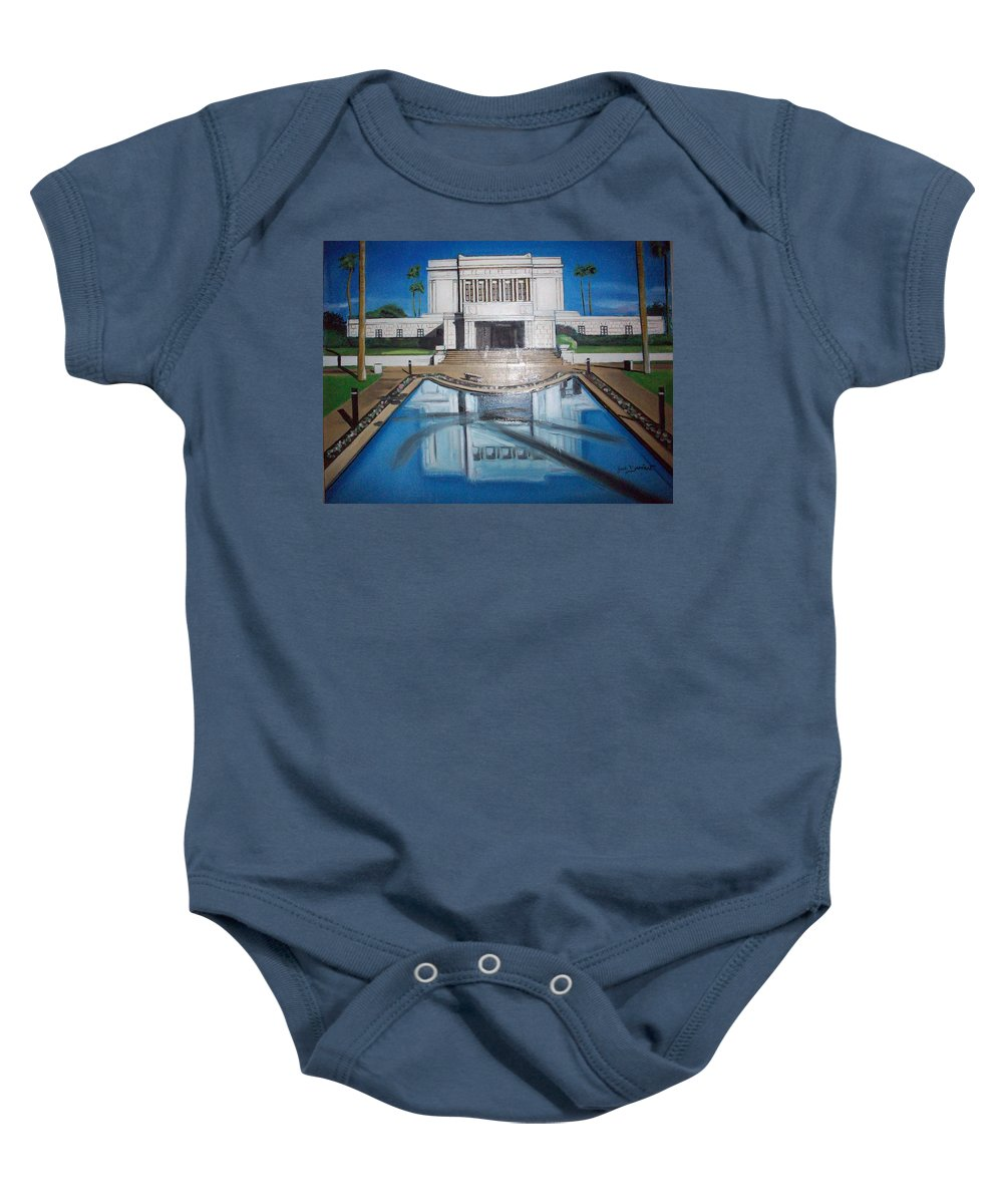 Baby Onesie featuring the painting Architectural Landscape by Jude Darrien