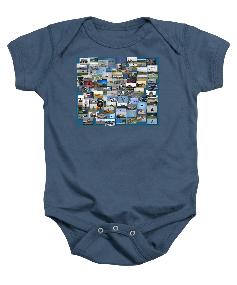 Rectangle Baby Onesie featuring the photograph Aviation Collage by Thomas Woolworth