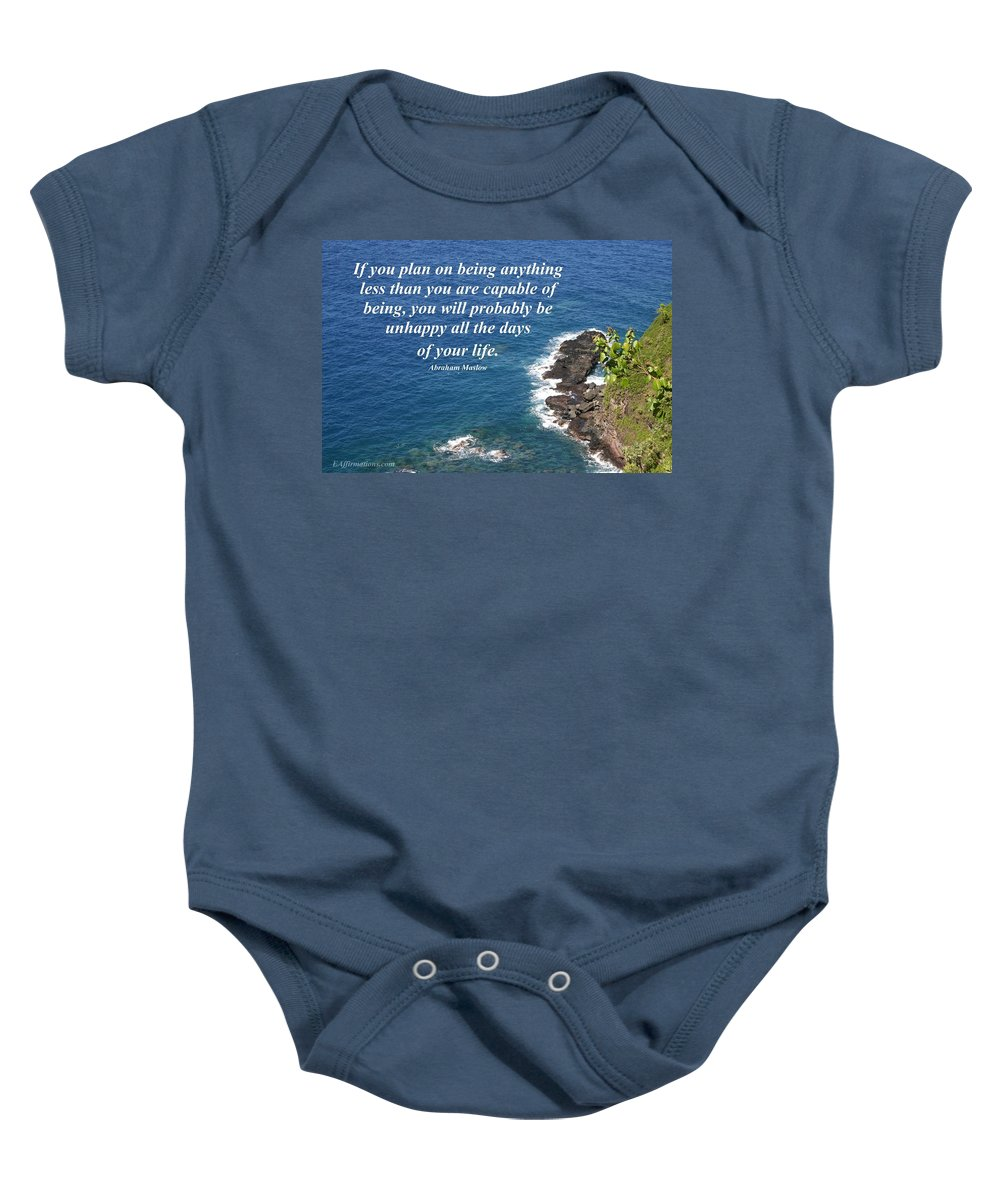 Ocean Baby Onesie featuring the photograph Be All That You Are Capable Of by Pharaoh Martin