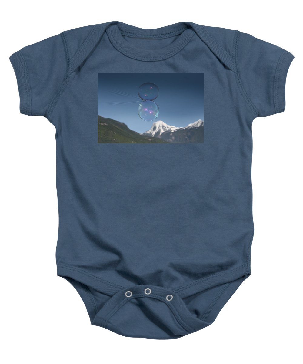 Bubble Baby Onesie featuring the photograph Bubble In The Purcell's by Cathie Douglas