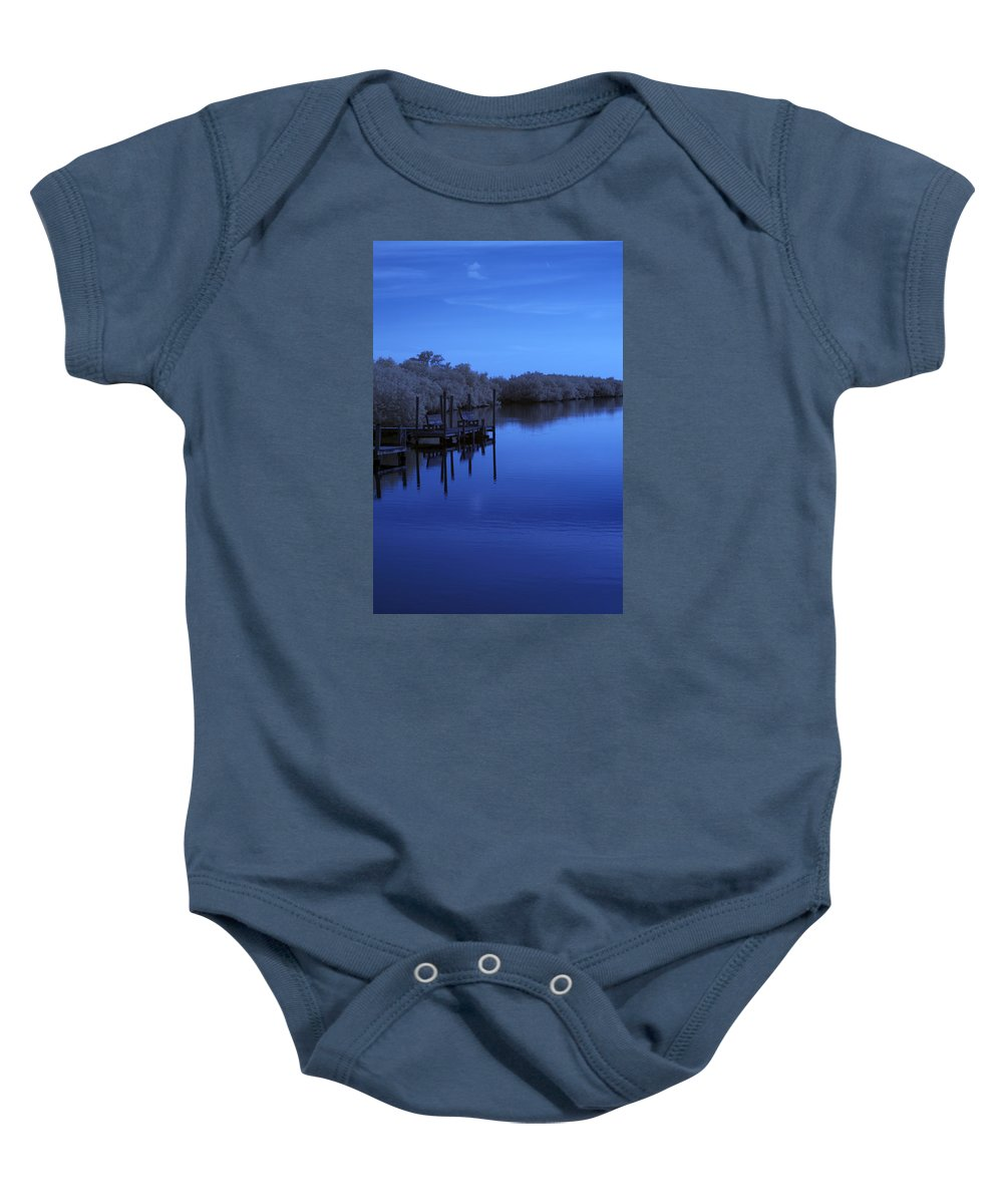 Near Baby Onesie featuring the photograph Bull Frog Creek II Gibsonton Fl Usa Near Infrared by Sally Rockefeller