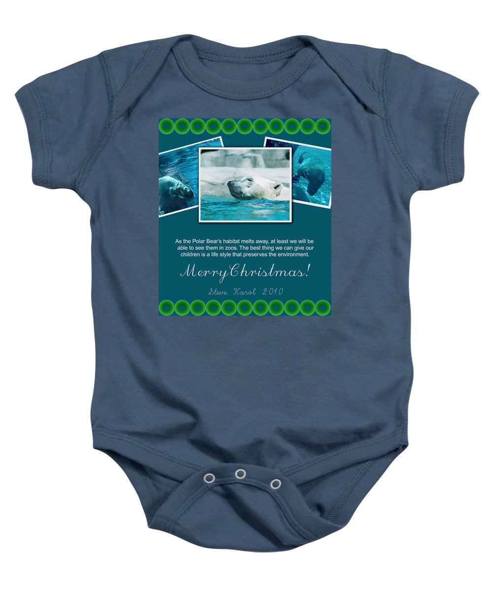 Christmas Baby Onesie featuring the photograph Christmas Greetings by Steve Karol