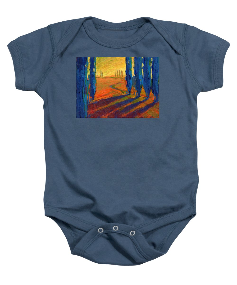 California Baby Onesie featuring the painting Colors Of Summer 2 by Konnie Kim