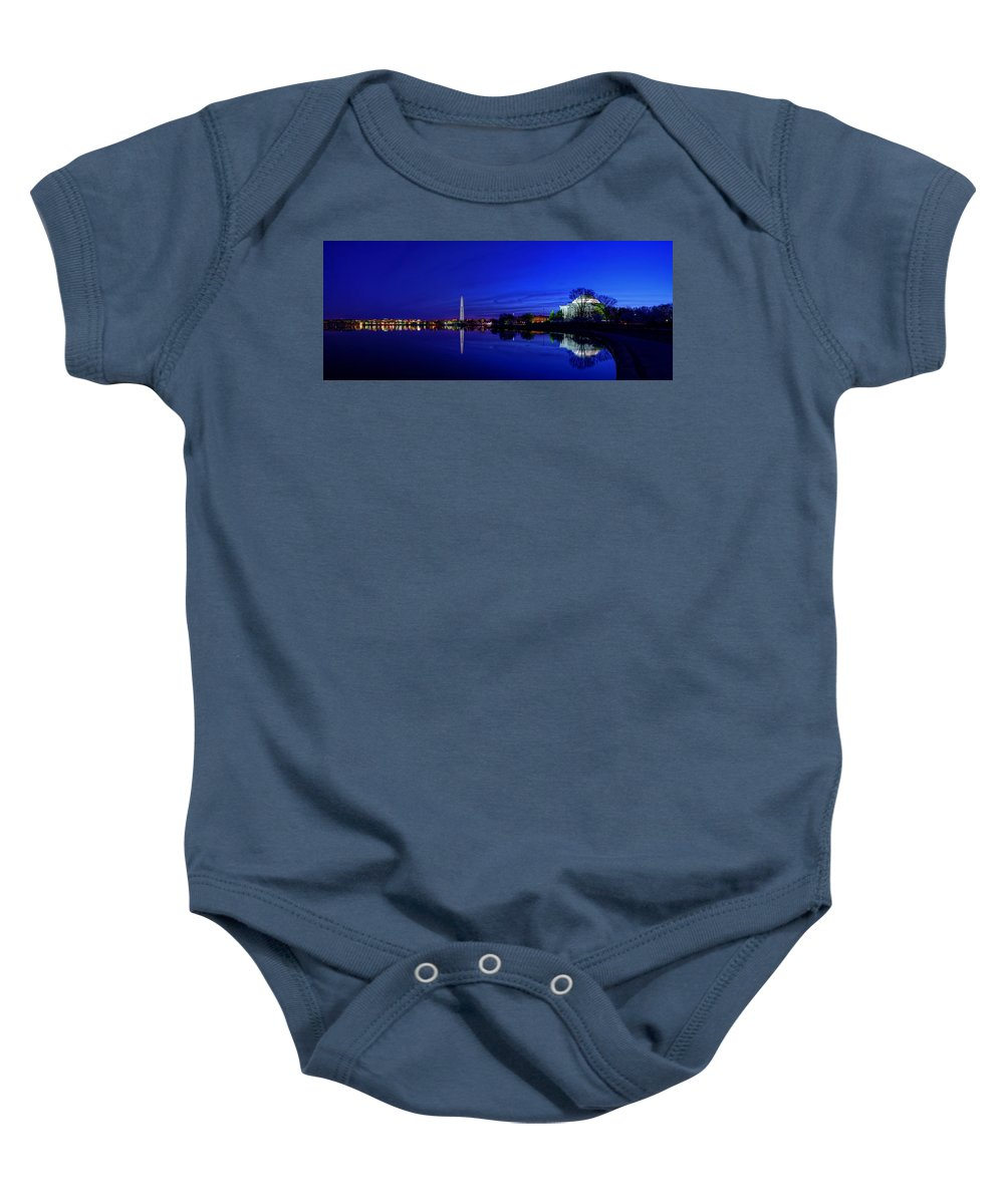 Dc Baby Onesie featuring the photograph Early Morning Cherry Blossoms by Metro DC Photography