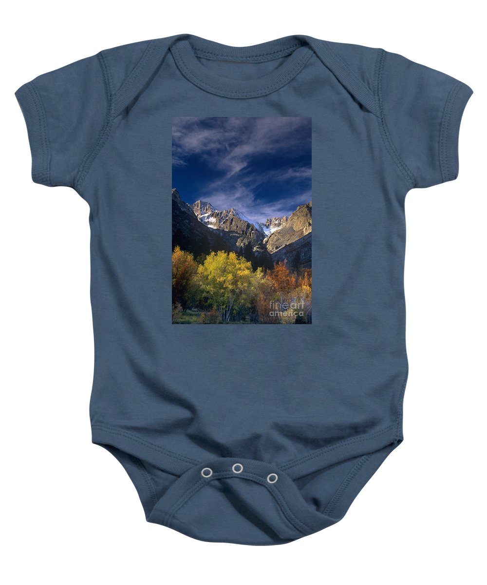 California Baby Onesie featuring the photograph Fall Color Below Middle Palisades Glacier Eastern Sierras California by Dave Welling