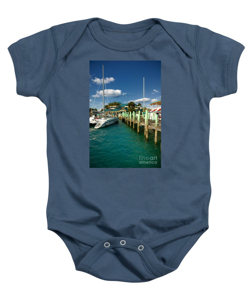 Bahamas Baby Onesie featuring the photograph Ferry Station Paradise Island by Amy Cicconi