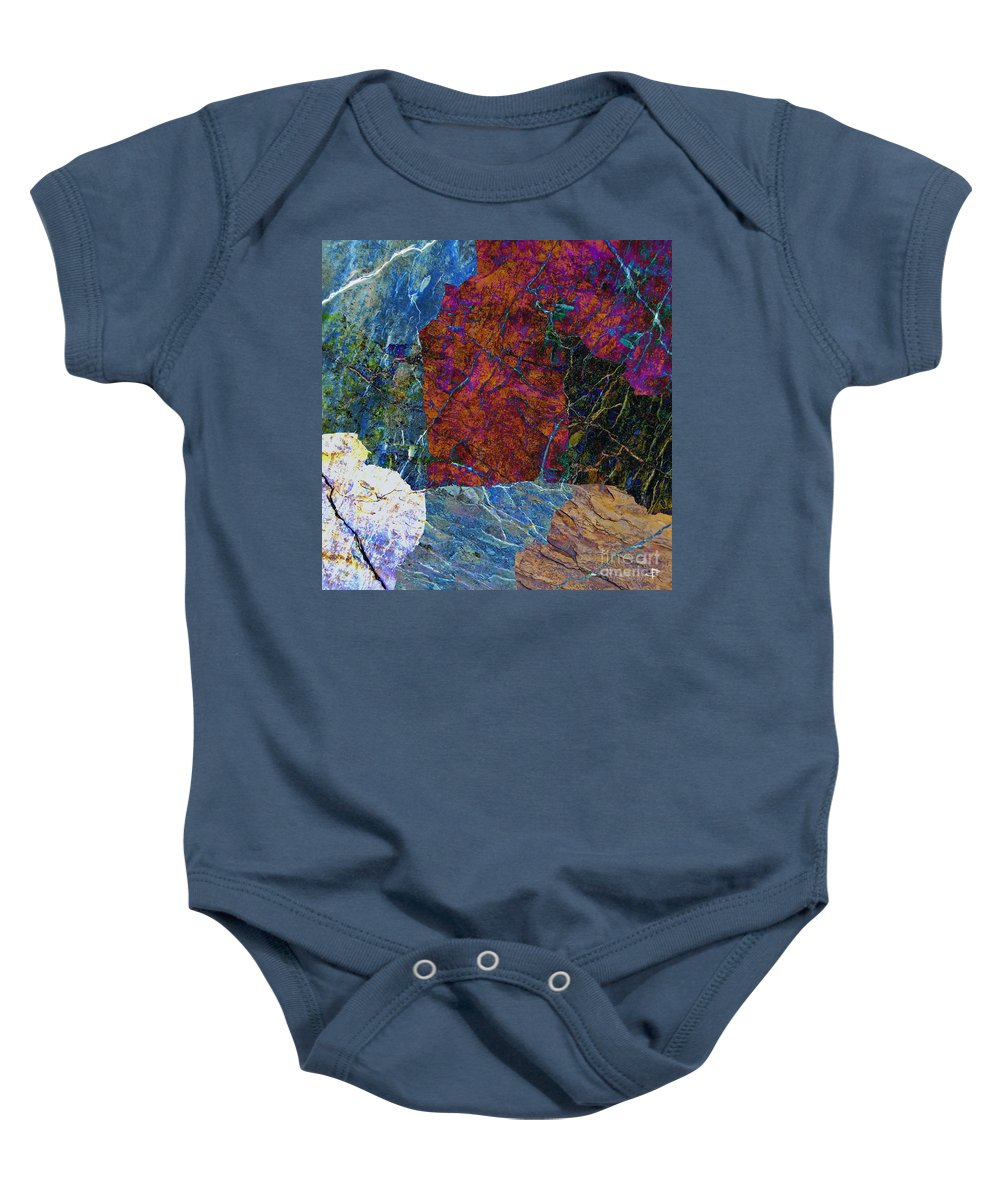 Fracture Baby Onesie featuring the photograph Fracture Section Xi by Paul Davenport