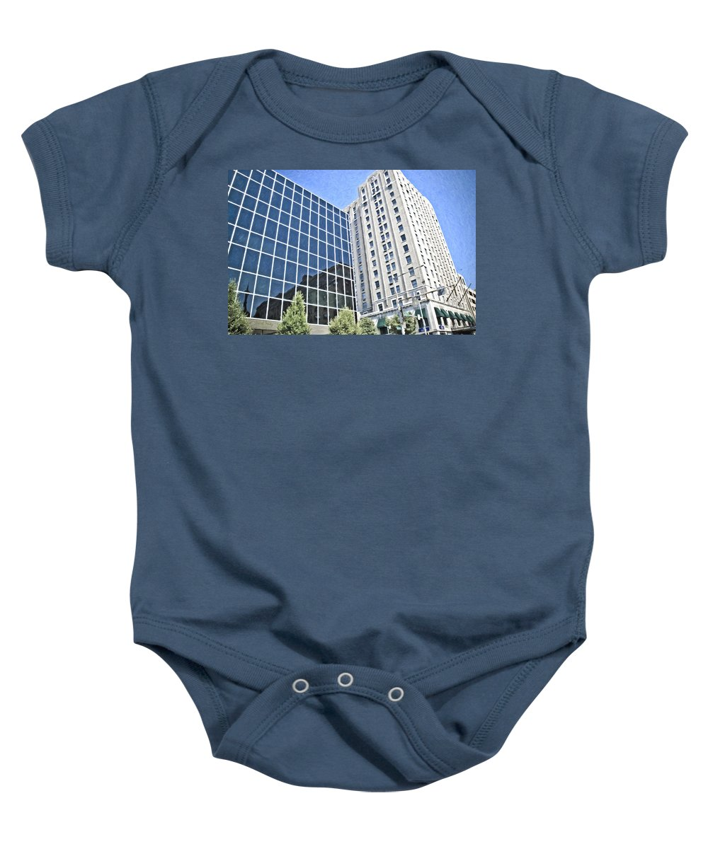 Reading Baby Onesie featuring the photograph Glad I'm Not A Window Cleaner by Trish Tritz