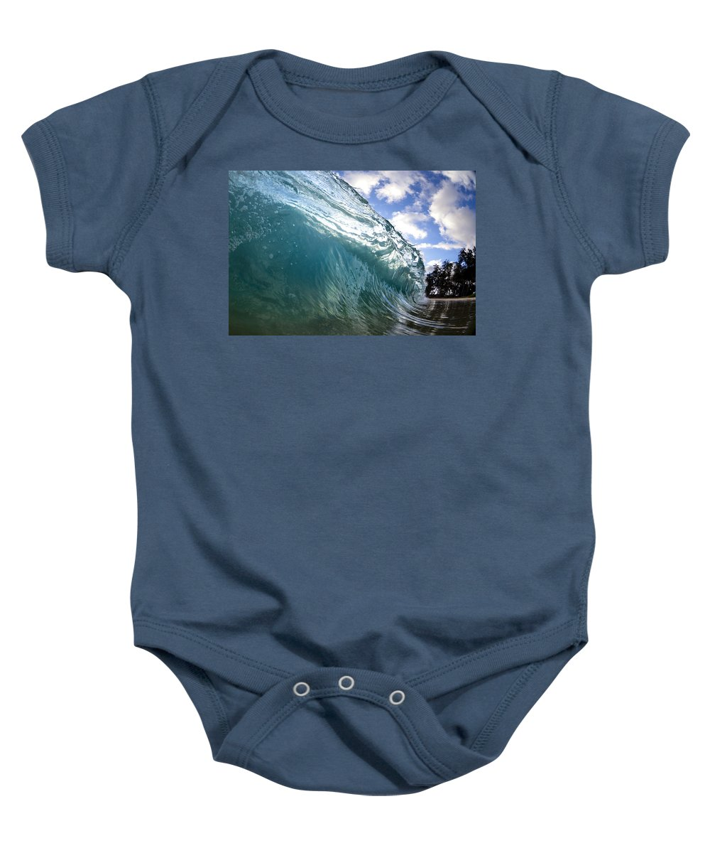 Surge Baby Onesie featuring the photograph Glass Surge by Sean Davey
