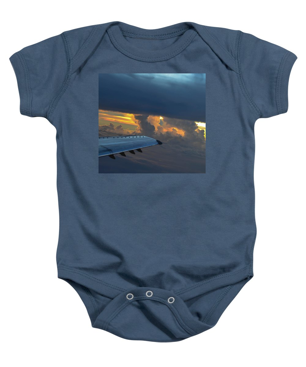 Clouds Baby Onesie featuring the photograph High In The Clouds II by Wanda J King