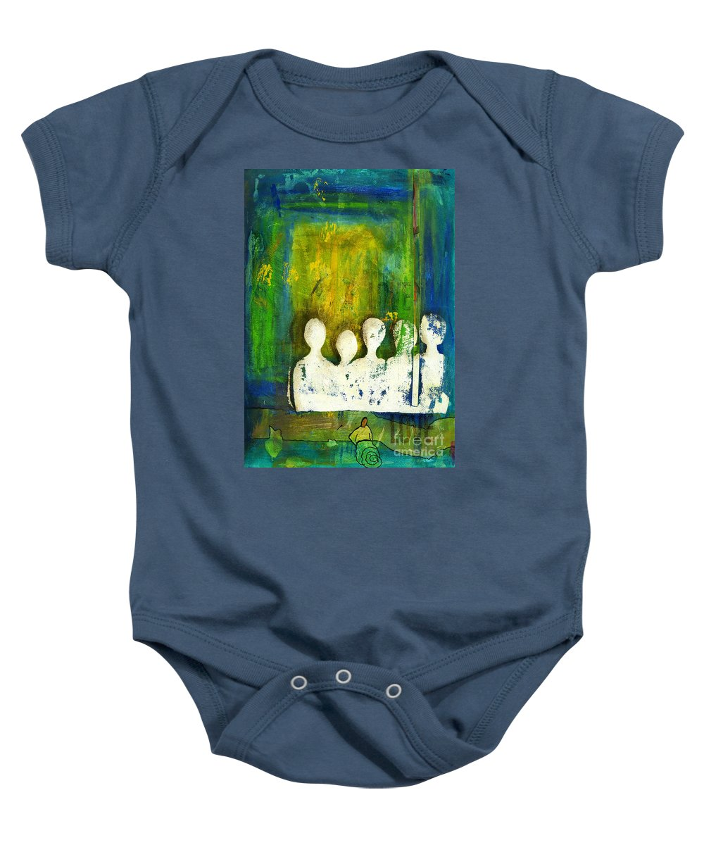 Women Baby Onesie featuring the mixed media Honey... The Angels Are Here by Angela L Walker