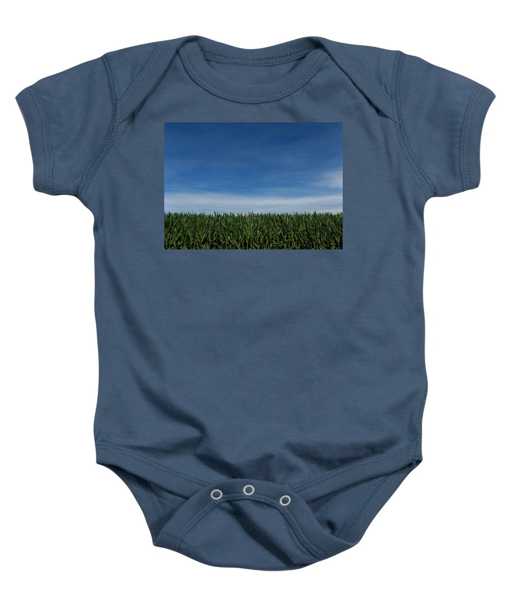 Corn Baby Onesie featuring the photograph Indiana Summer by Dan McCafferty