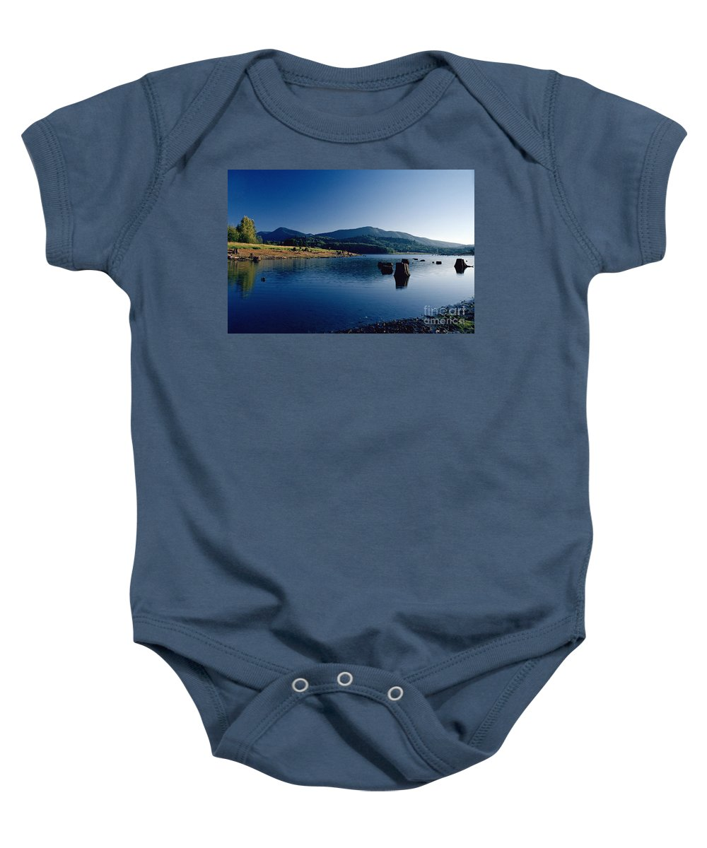 Landscape Baby Onesie featuring the photograph Lake Scene by Earl Johnson