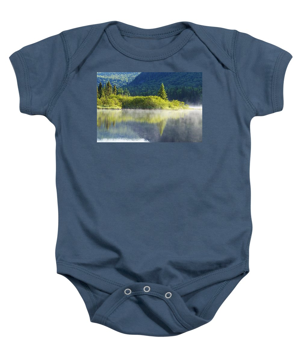 Mont Baby Onesie featuring the photograph Laurentian Summer Morning by Mircea Costina Photography