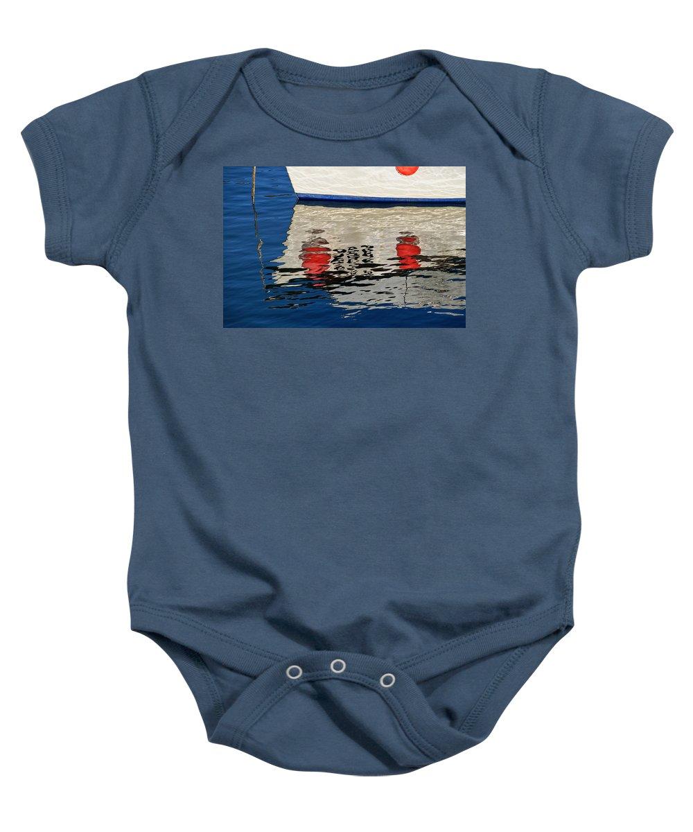 Tags Baby Onesie featuring the photograph Lyme Regis Harbour - December by Susie Peek