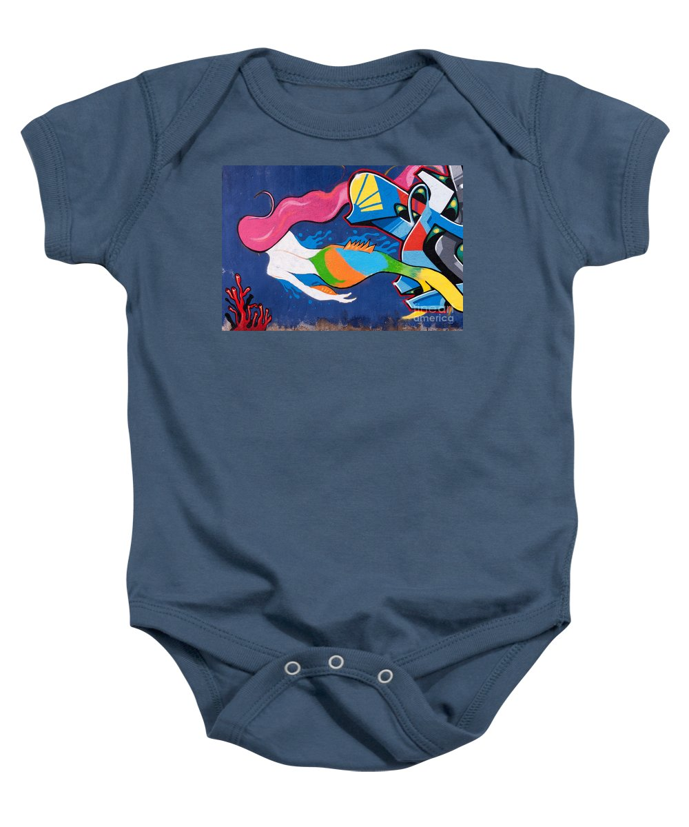 Turkish Baby Onesie featuring the photograph Mermaid by Rick Piper Photography
