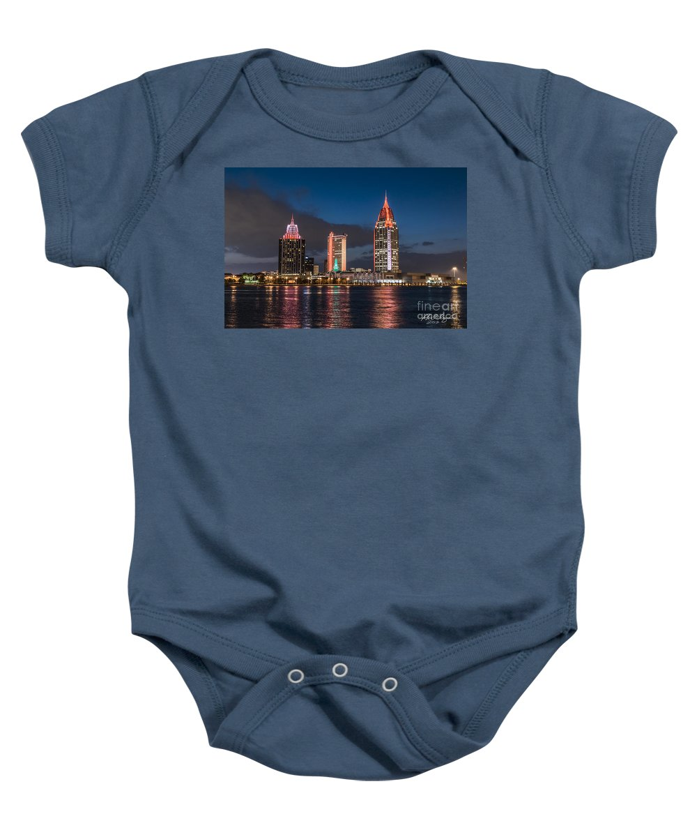 Mobile Baby Onesie featuring the photograph Mobile Alabama Skyline by Phil Floyd