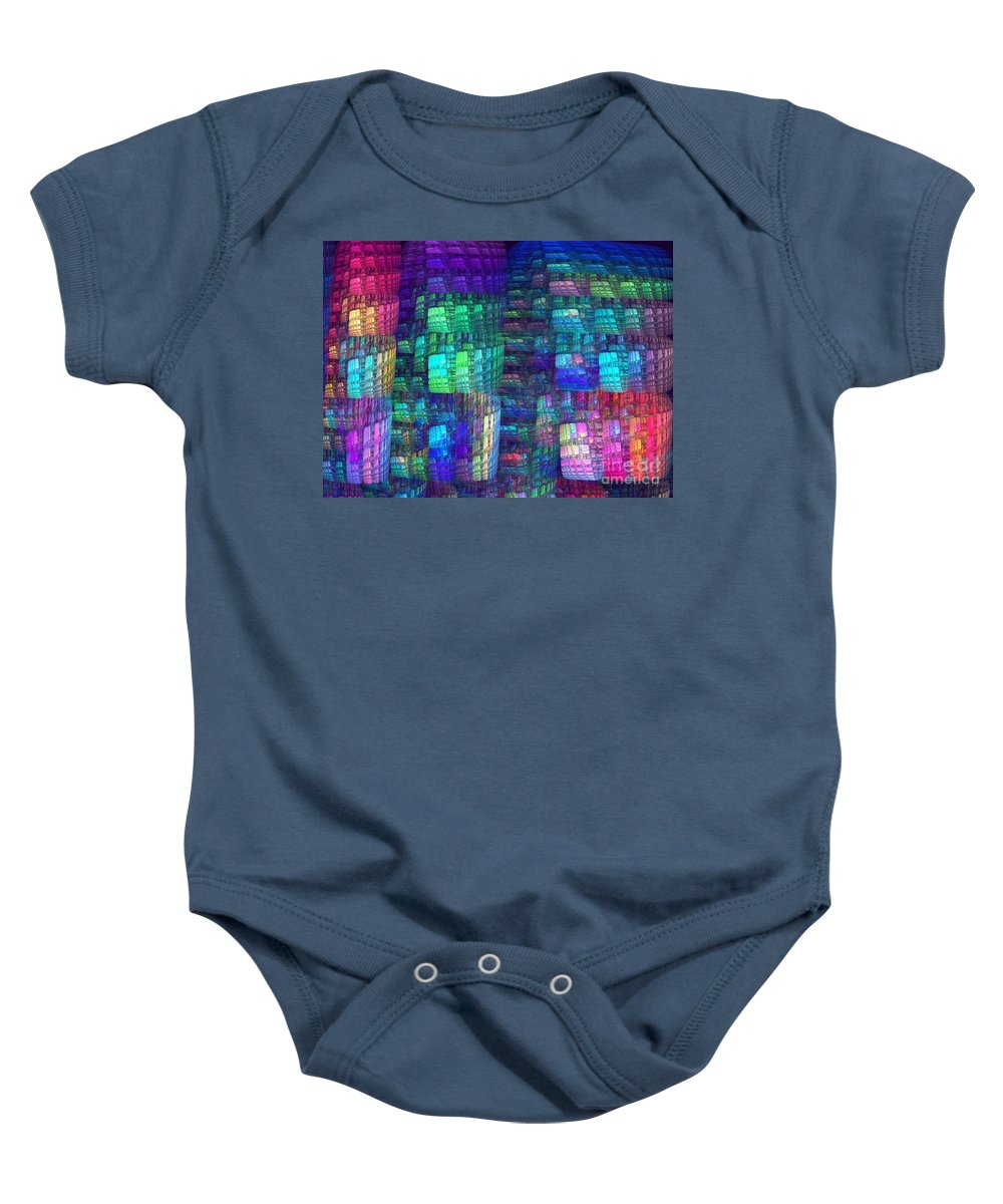 Apophysis Baby Onesie featuring the digital art Multiplicity by Kim Sy Ok