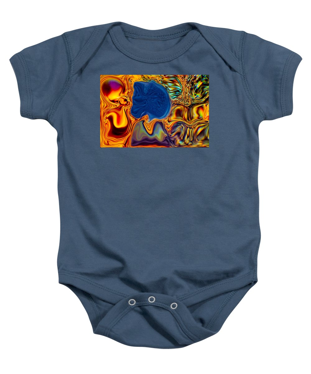 Blue Baby Onesie featuring the painting Natural Beauty by Omaste Witkowski