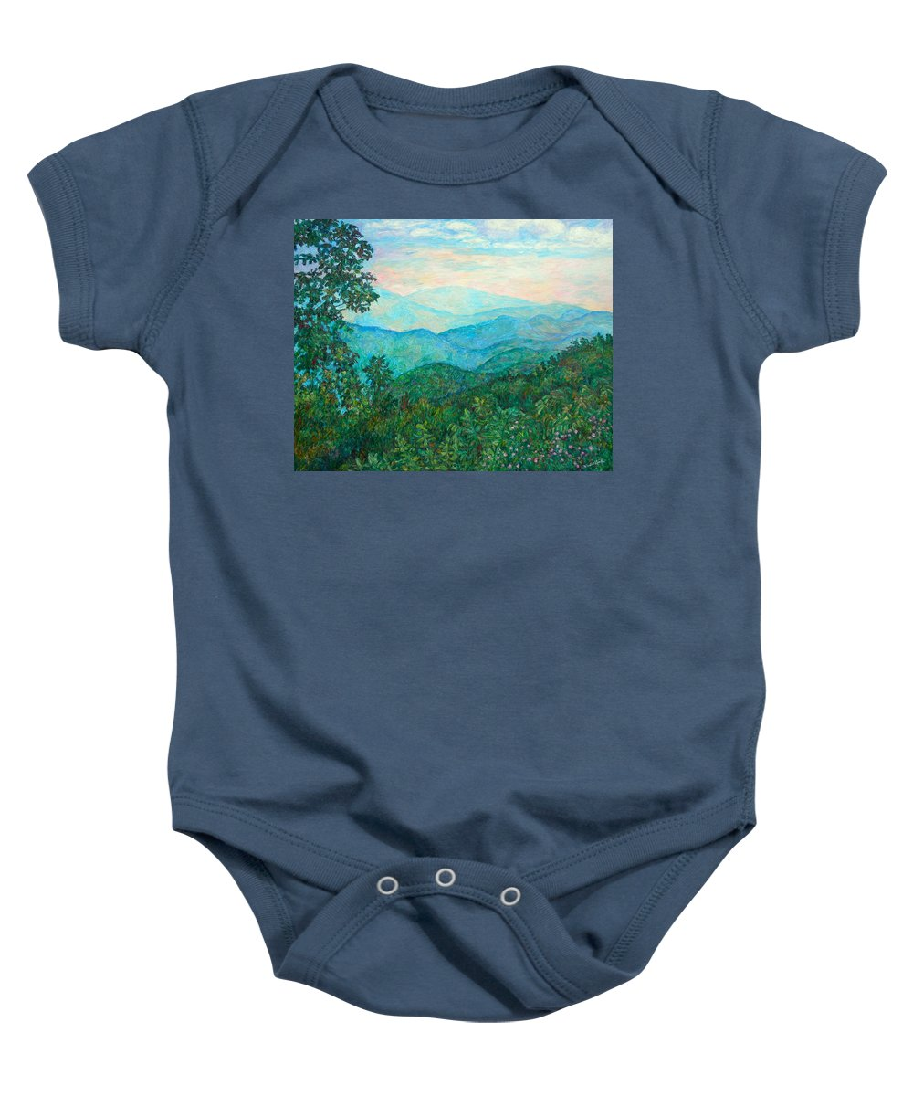 Landscape Baby Onesie featuring the painting Near Purgatory by Kendall Kessler