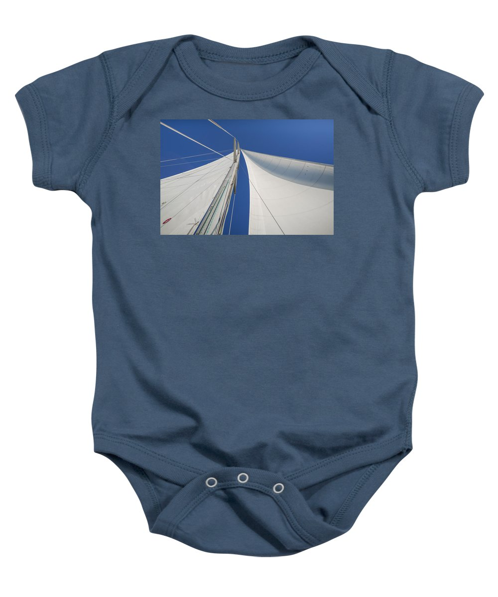 Sails Baby Onesie featuring the photograph Obsession Sails 1 by Scott Campbell