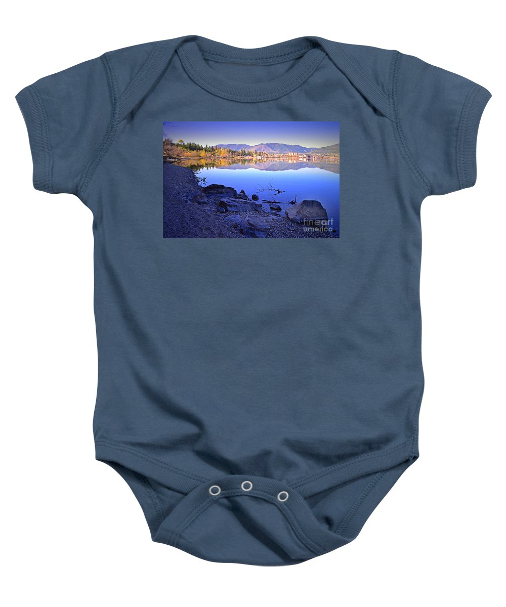 Penticton Baby Onesie featuring the photograph Penticton Reflections by Tara Turner