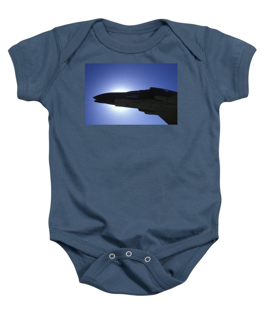 Phantom Baby Onesie featuring the photograph Phantom Silhouette by John Clark