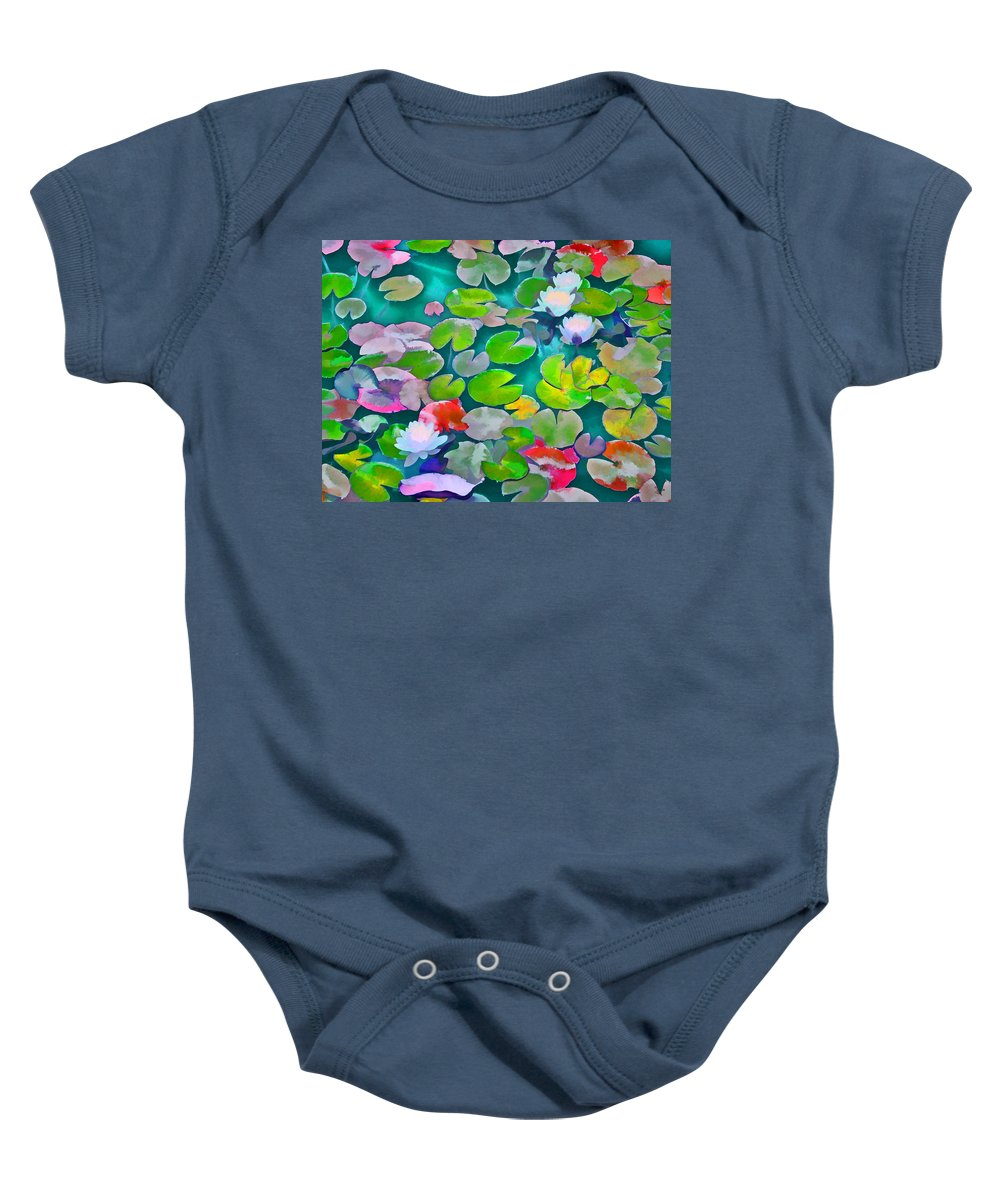 Pond Lilies Baby Onesie featuring the photograph Pond Lily 5 by Pamela Cooper
