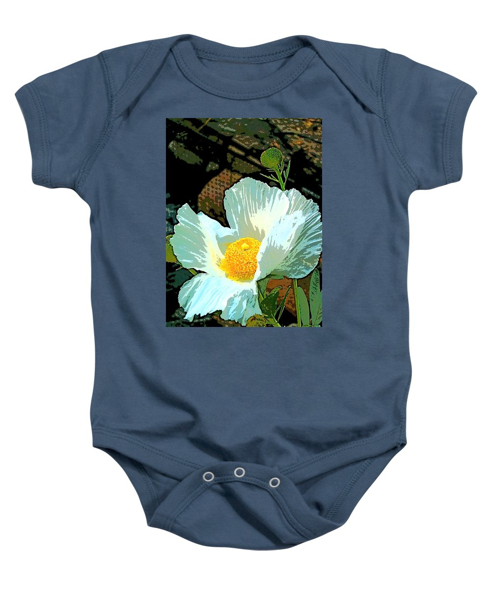 Flower Baby Onesie featuring the photograph Poppy 5 by Pamela Cooper