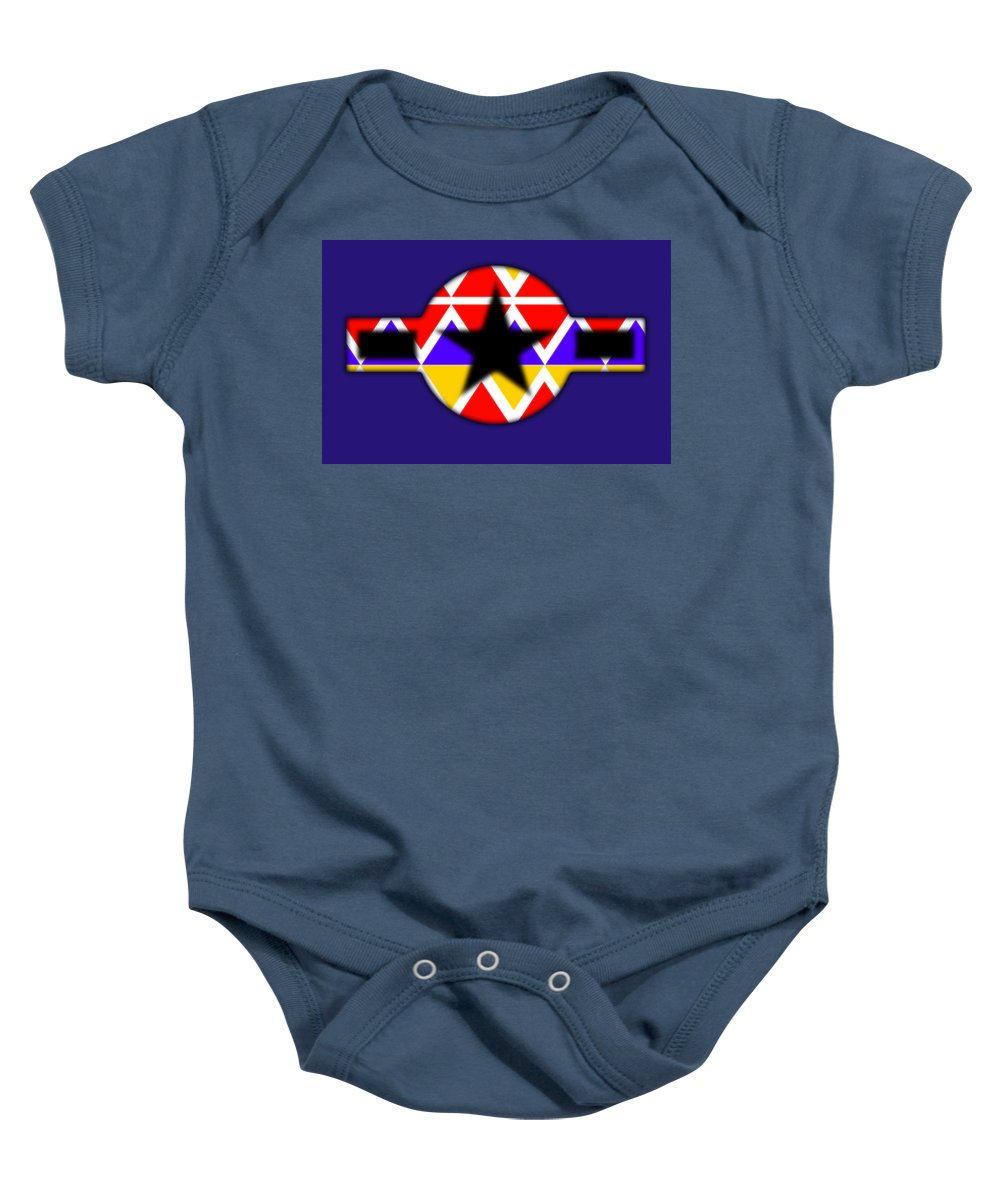 Black Baby Onesie featuring the painting Power Black by Charles Stuart
