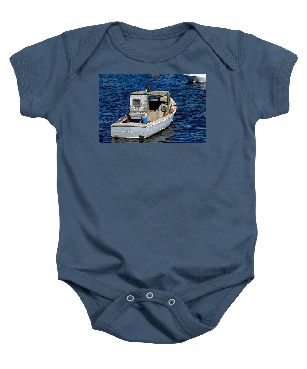Laura Duhaime Photography Baby Onesie featuring the photograph Rock N Roll In Maine by Laura Duhaime