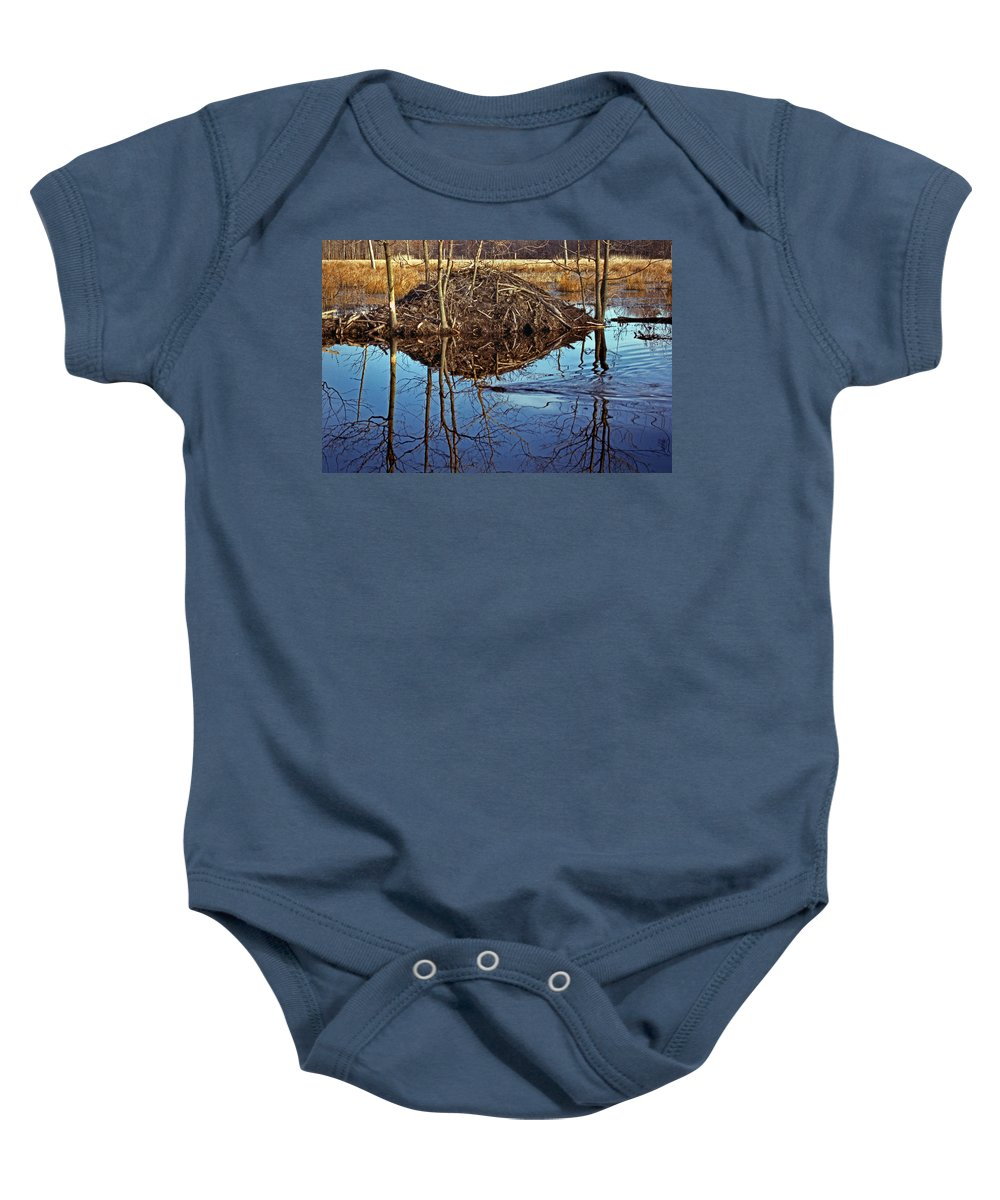 Nature Baby Onesie featuring the photograph Short Commute by Skip Willits