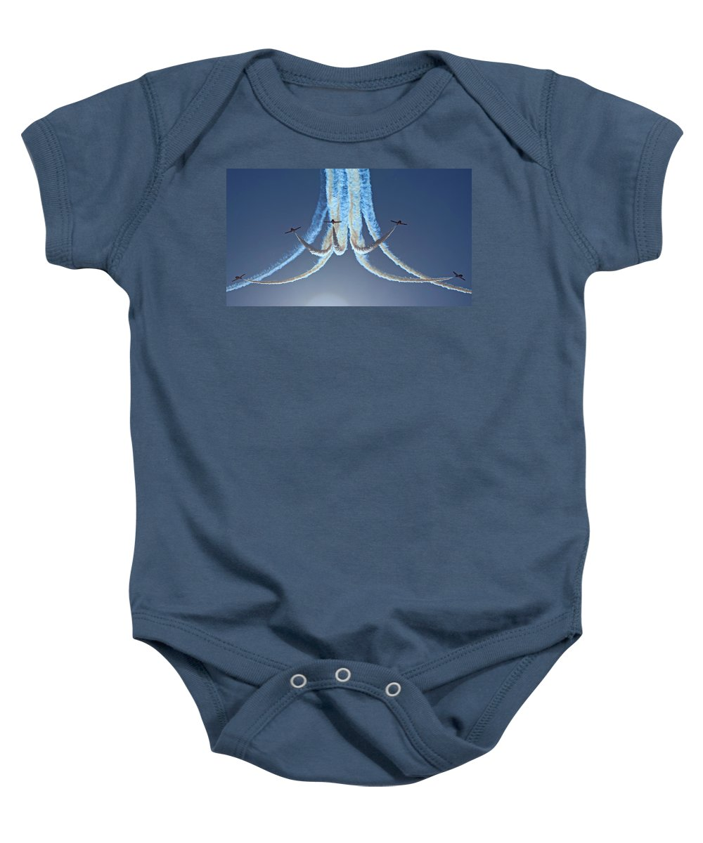 Snowbirds Baby Onesie featuring the photograph Snowbirds In A Dive by Randy Hall