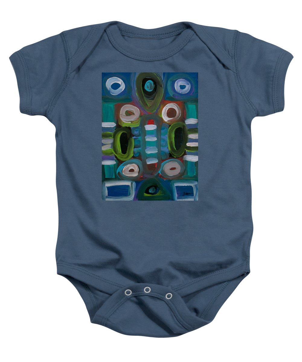 Business Baby Onesie featuring the painting The Boardroom by Jeff Gater