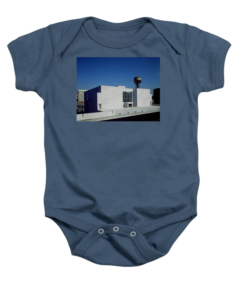Knoxville Baby Onesie featuring the photograph The Knoxville Museum Of Art by Mountain Dreams