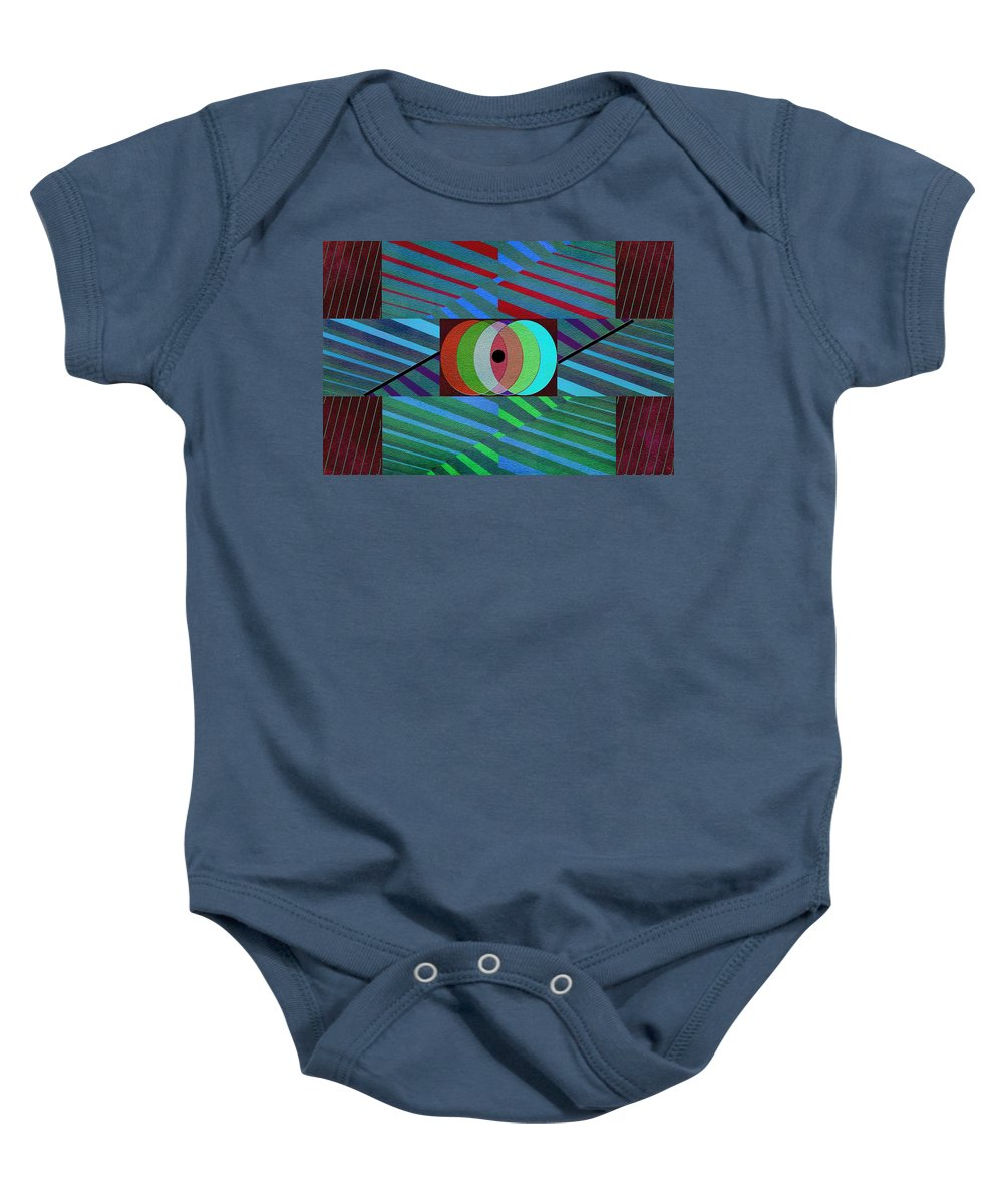 Abstract Baby Onesie featuring the photograph Through The Roof by Linda Dunn