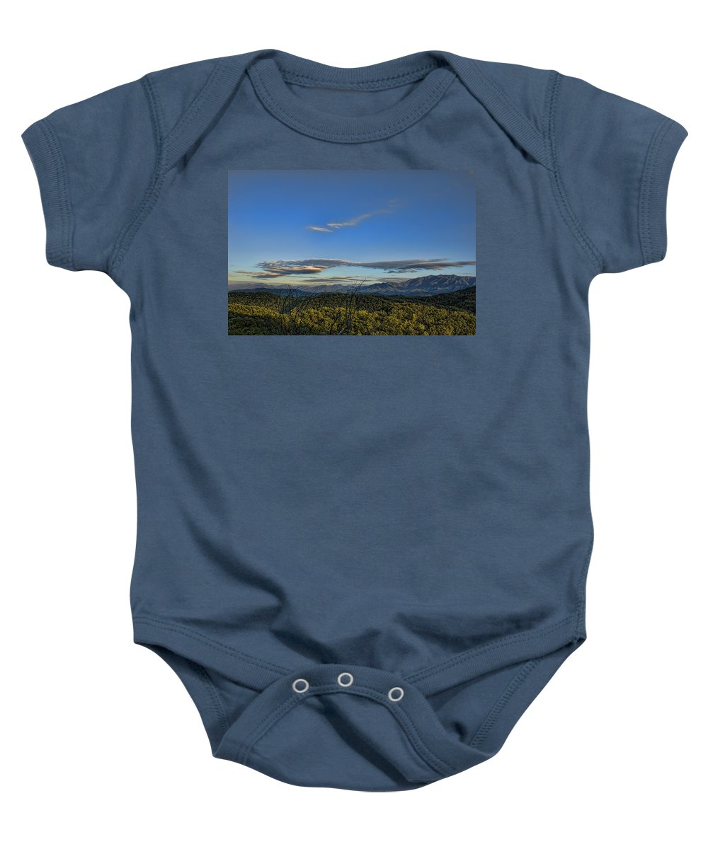 Tennessee Baby Onesie featuring the photograph Upslope Flow by Steven Richardson