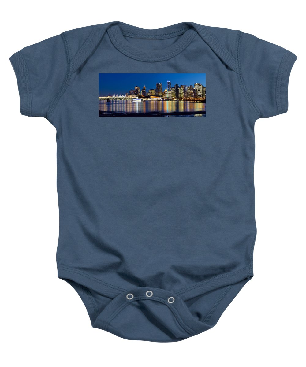 Vancouver Baby Onesie featuring the photograph Vancouver Bc City Skyline Reflection by Jit Lim