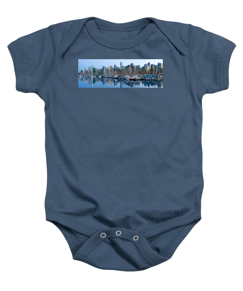 Vancouver Baby Onesie featuring the photograph Vancouver Bc Skyline Along False Creek by Jit Lim
