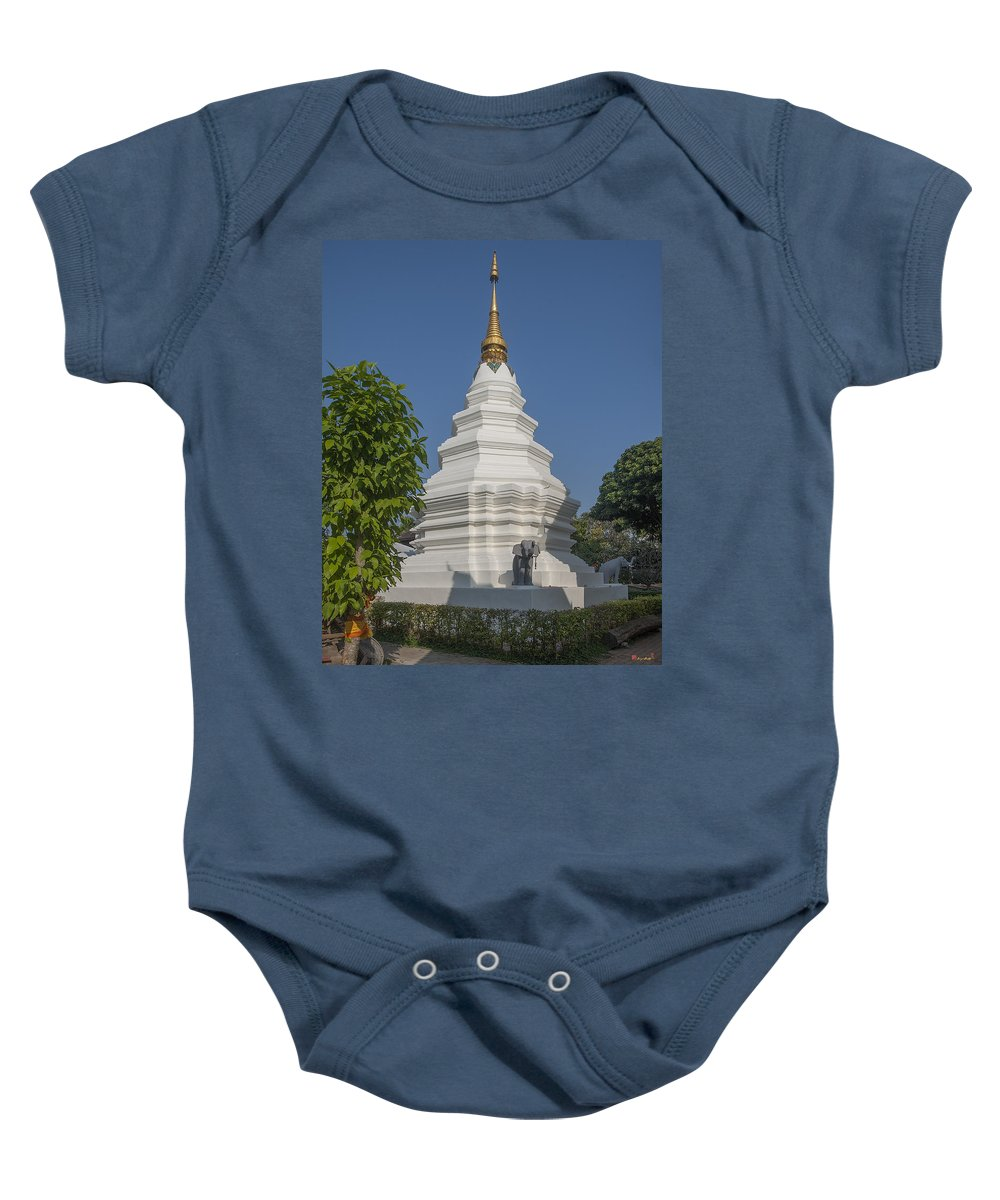 Scenic Baby Onesie featuring the photograph Wat Duang Dee Phra Chedi Dthcm0299 by Gerry Gantt