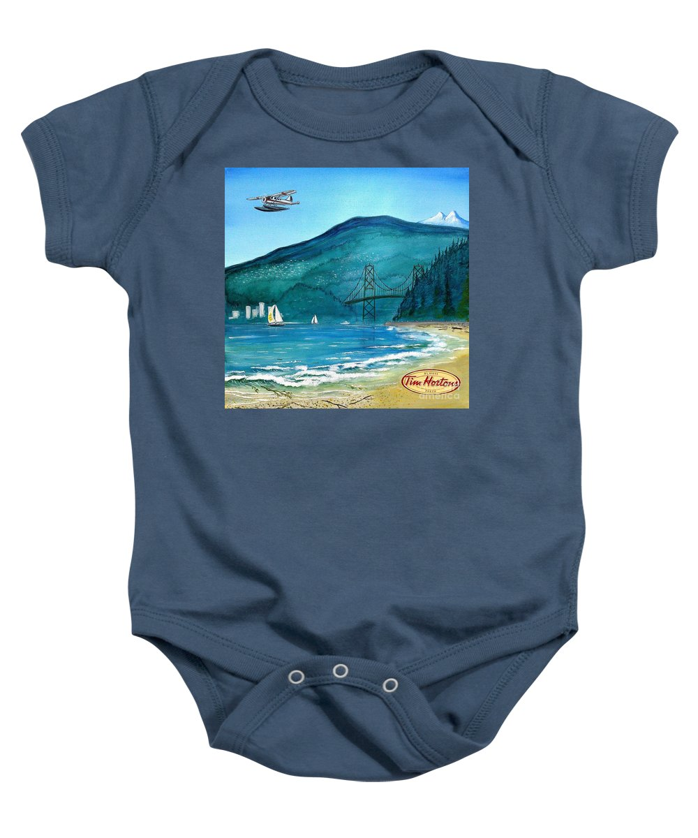 John Lyes Baby Onesie featuring the painting West Coast Dream by John Lyes