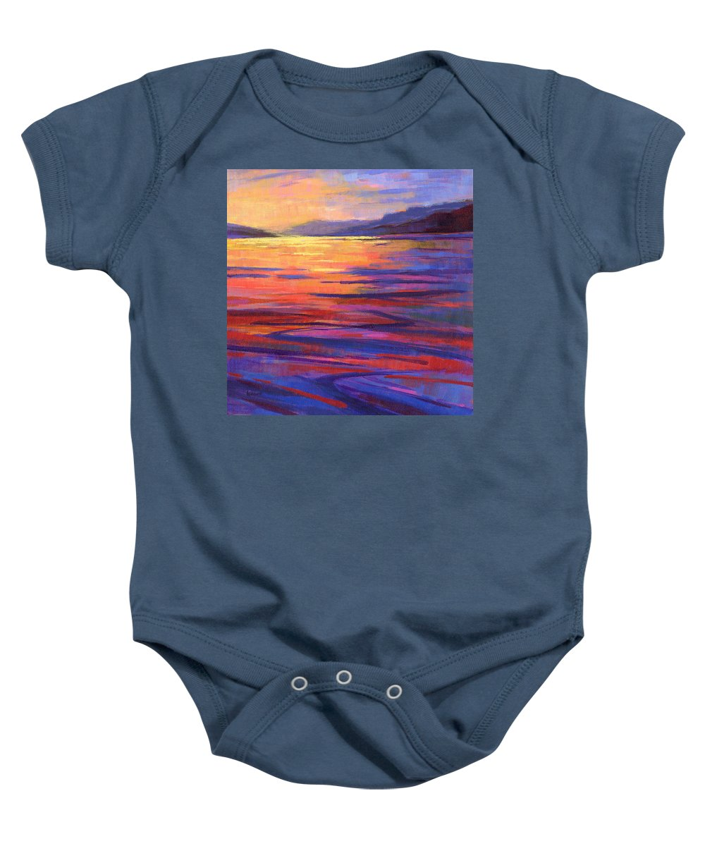 Water Baby Onesie featuring the painting Where The Whales Play 2 by Konnie Kim