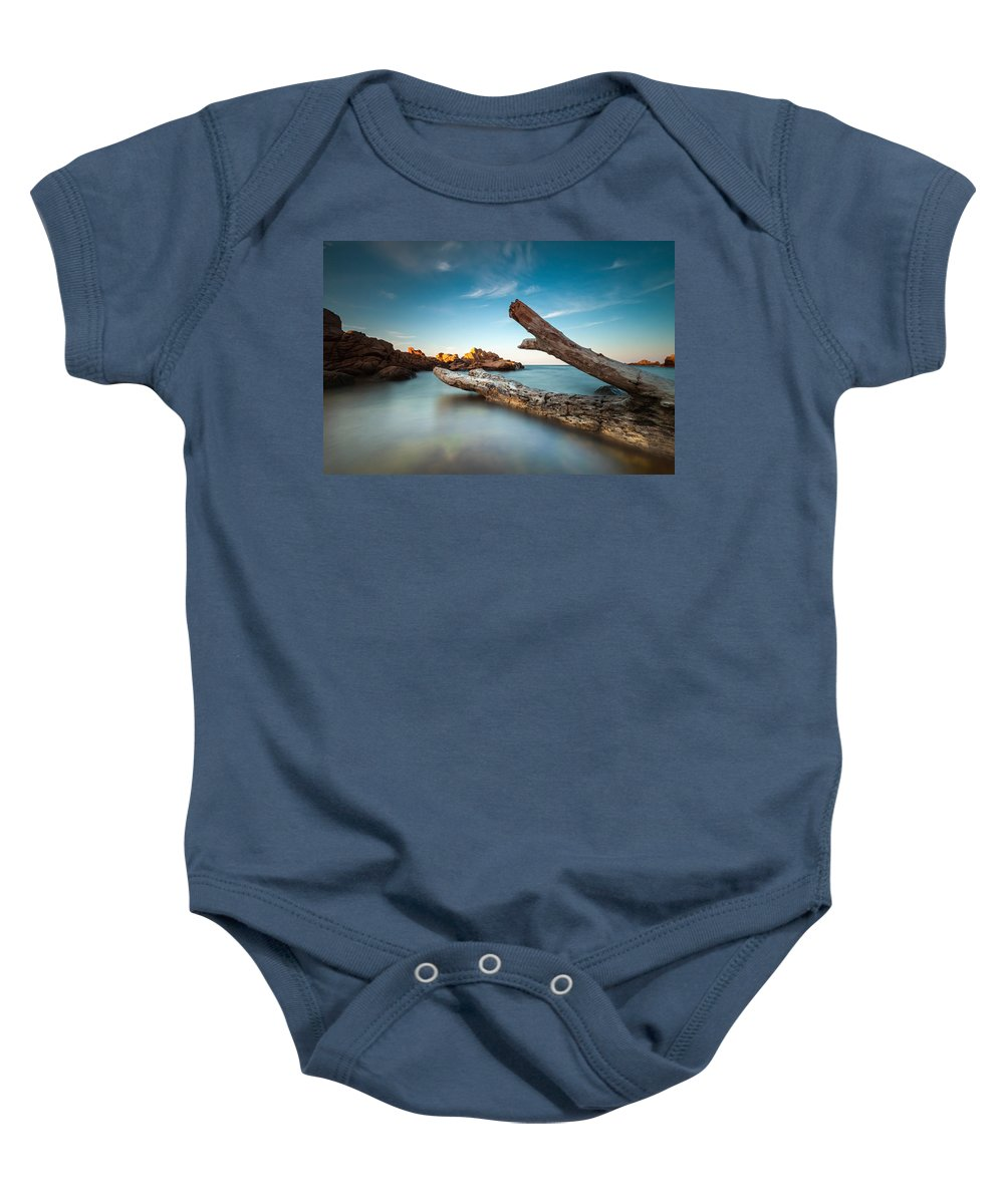 Black Sea Baby Onesie featuring the photograph Zero Level by Evgeni Dinev