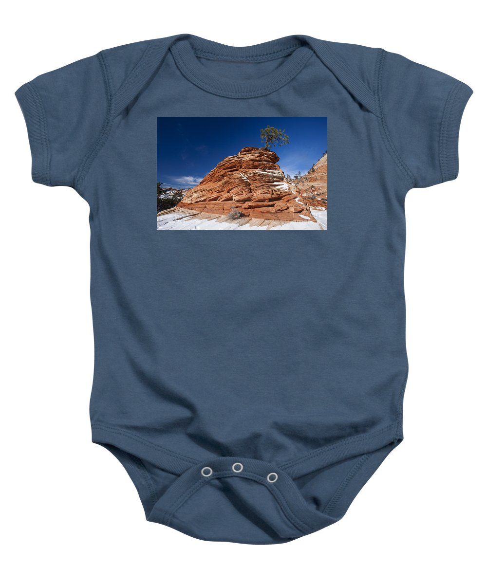 Zion Baby Onesie featuring the photograph Zion National Park Utah by Jason O Watson