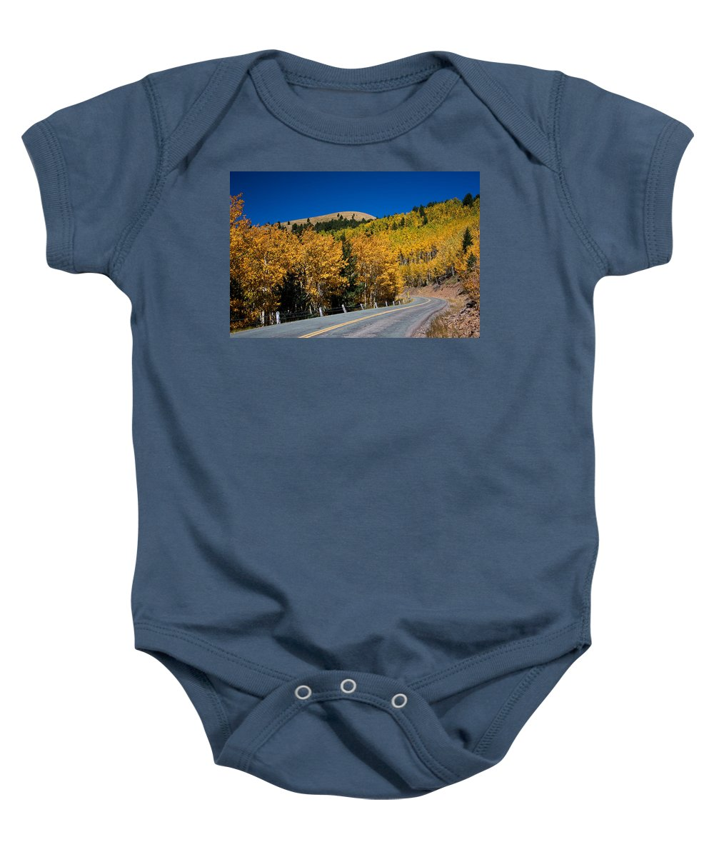 Ralf Baby Onesie featuring the photograph fall in Ruidoso by Ralf Kaiser