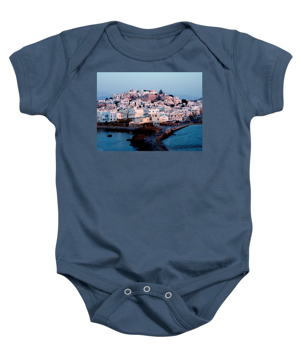 Colette Baby Onesie featuring the photograph Naxos Island Greece by Colette V Hera Guggenheim