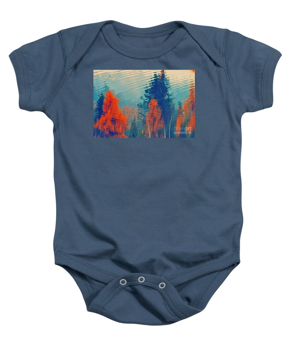 Trees Baby Onesie featuring the photograph Autumn Vision by Aimelle
