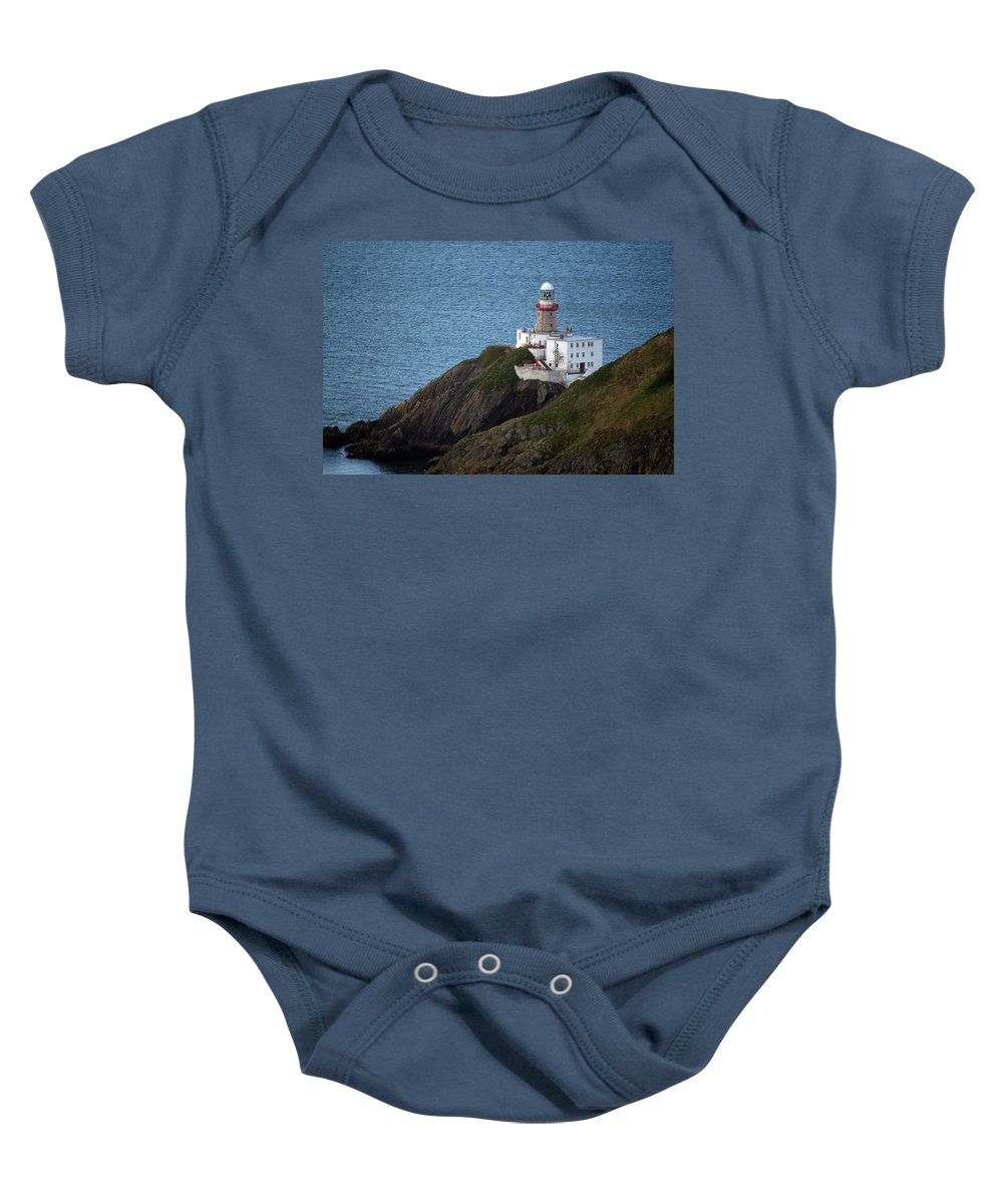 Baily Lighthouse Baby Onesie featuring the photograph Baily Lighthouse by Carol Ann Thomas