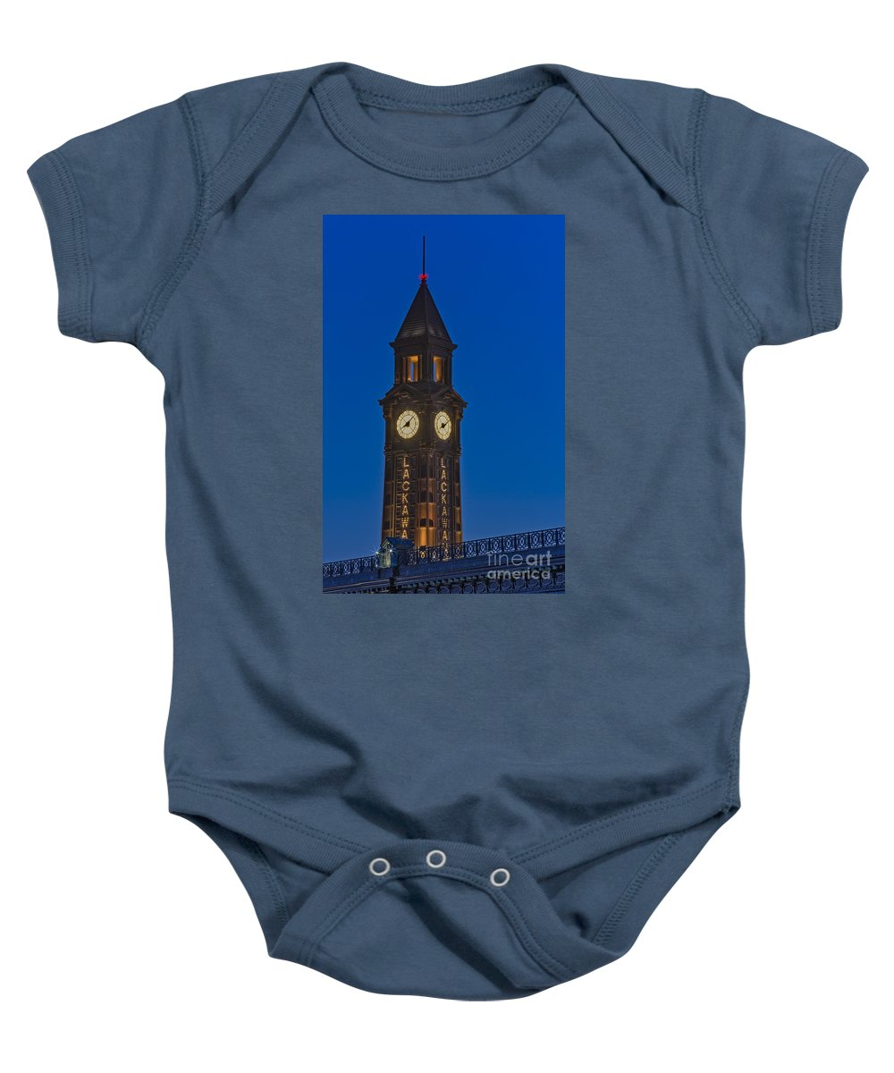 Erie Lackawana Baby Onesie featuring the photograph Can I Have The Time Please by Susan Candelario