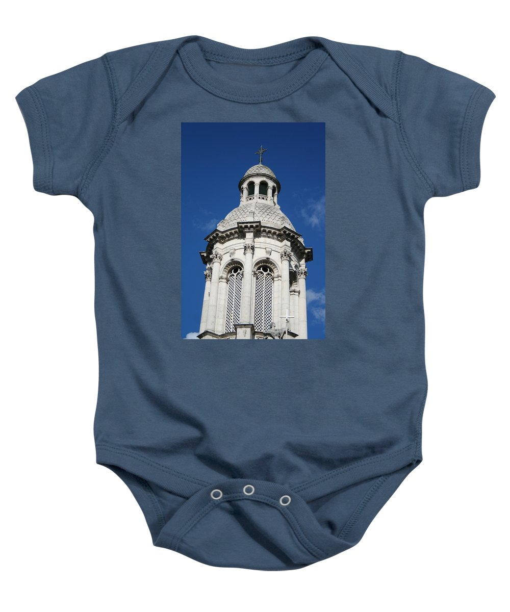 Trinity College Baby Onesie featuring the photograph City 0027 by Carol Ann Thomas